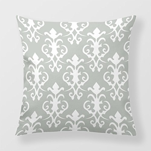Lightinglife Sofa Cushion Cover Cotton Decorative Throw Pillow Damask Pattern Cushion Cover 18 X 18 BEISI xdq