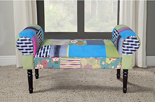 Lux Home Pacific Coastal Patchwork Bench