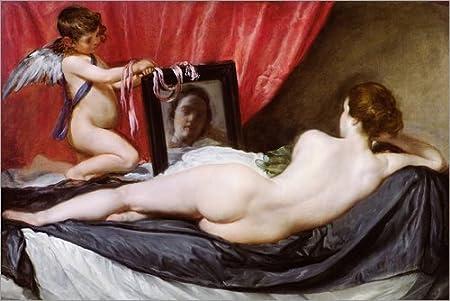 Posterlounge Lienzo 60 x 40 cm: The Rokeby Venus de Diego Rodriguez de Silva y Velazquez - Cuadro Terminado, Cuadro sobre Bastidor, lámina terminada sobre Lienzo auténtico, impresión en Lienzo