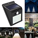 2 Pack 30 LED Solar Lights, Solar Powered Waterproof Wall Light Motion Sensor Outdoor Garden Security Lamp (Black)