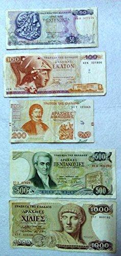 lot-5-drahmai-draxmas-greece-banknotes-50-100-200-500-1000