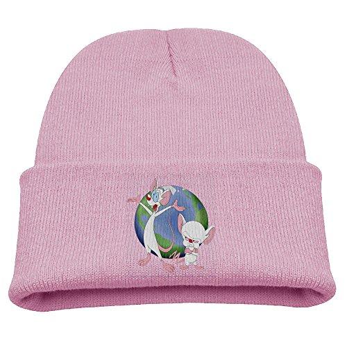 [Pinky & The Brain Animaniacs Warm Winter Hat Knit Beanie Skull Cap Cuff Beanie Hat Winter Hats] (Freakazoid Costume)