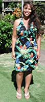 Sexy Halter - Jungle Parrots Women's Fitted Dress