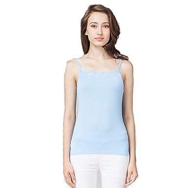 Camisa de Fondo Modales Camisola Blanca con Encaje Femenino ...