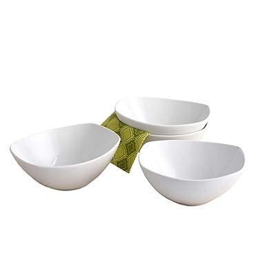 4 Piece Porcelain Serving Bowl Set
