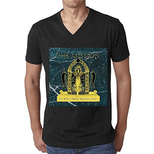the-mission-gods-own-medicine-t-shirt-men-v-neck-black