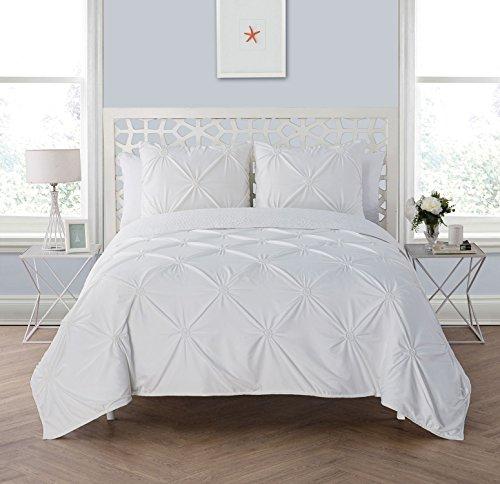 VCNY Home Floral Burst 3 Piece Quilt Set, Full/Queen, White - Flower Burst Comforter