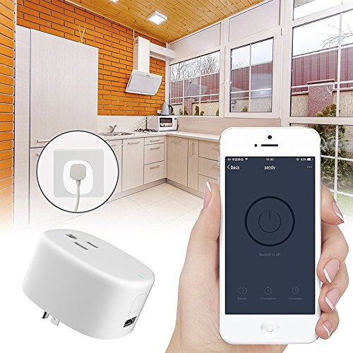 Wi-Fi Mini Timing Smart Plug, With USB Outlet, No Control Center, On the Phone Through the APP Control Device Switch, UL Certification & FCC,RoHs,Work With Amazon Alexa & Google Home by purui (Image #5)