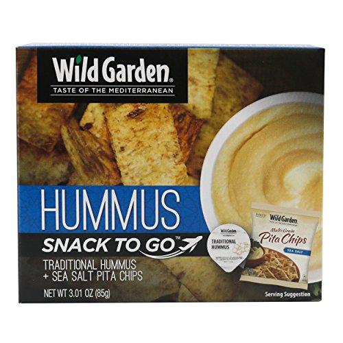 Traditional Hummus Dip + Multigrain Pita Chips (Pack Of 6) - Wild Garden Hummus Dip