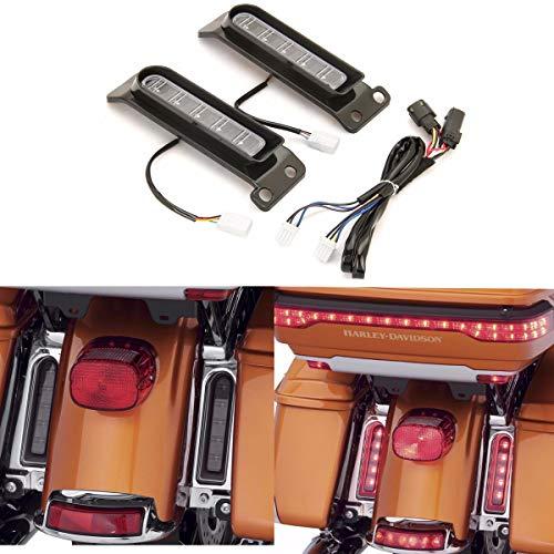 Electra Glo Keystone rear fender light FLTRU Auxiliary LED Run/Brake/Turn Lamps for harley FLHTCU Keystone saddlebag side light FLHTK 14-18