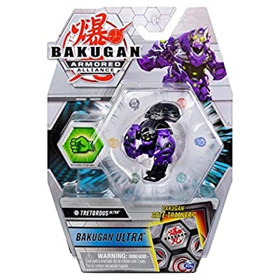 Bakugan Ultra, Darkus Tretorous, Season 2 Armored Alliance - 3-inch Tall Collectible Transforming Creature, for Ages 6 and Up: Toys & Games