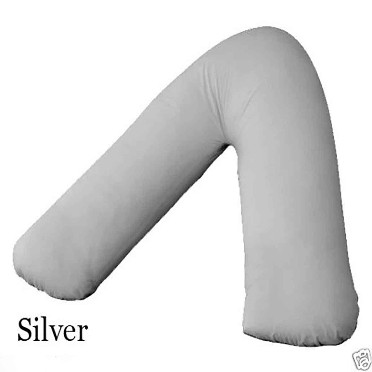 Teal Plain V Shaped Pillow Cases Covers only for Maternity Pregnancy Medical Nursing Orthopedic Pain Relief Back Support Body V-Shaped Pillows Cover