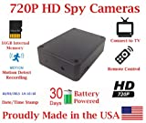 Cheap Black Box Spy Camera w/ 30 Day Battery Life Hidden covert Nanny cam