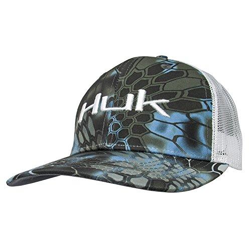 - HUK H3000149-470-1 Huk Kryptek Logo Trucker Cap, Neptune, Size 1