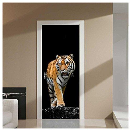 - Home Door Sticker Decor, Inkach 3D Wall Sticker Decal Tiger Art Printed Decor Vinyl Removable Mural Poster Scene Window Door Household Decals