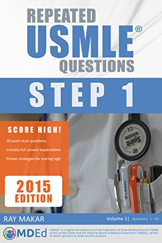Repeated USMLE Questions: USMLE Prep (Step 1) (English Edition)