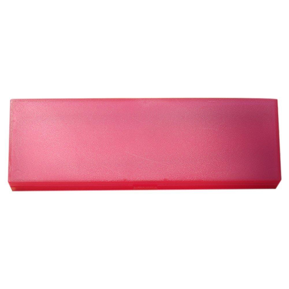 Mackur cute Pencil Case apparente portapenne plastica scatola penna cancelleria per scuola ufficio 1PCS 19.5× 6.5× 2.7cm White