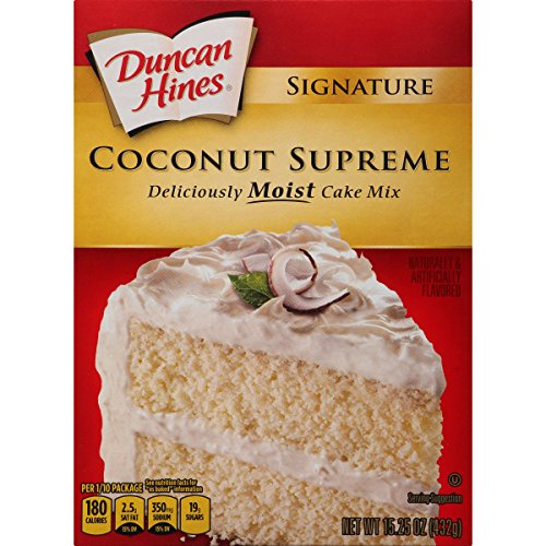 (Duncan Hines Signature Cake Mix, Coconut, 15.25 Ounce)