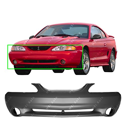 Bumper 1998 Front Ford Mustang - MBI AUTO - Primered, Front Bumper Cover Fascia for 1994-1998 Ford Mustang Cobra 94-98, FO1000238