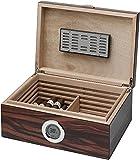 Visol Brawley Macassar Finish Cigar Humidor, 75 Cigars