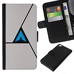 Planetar® Colorful Pattern Flip Wallet Leather Holster Protective Skin Case Cover For HTC Desire 820 ( Triangle Abstract )