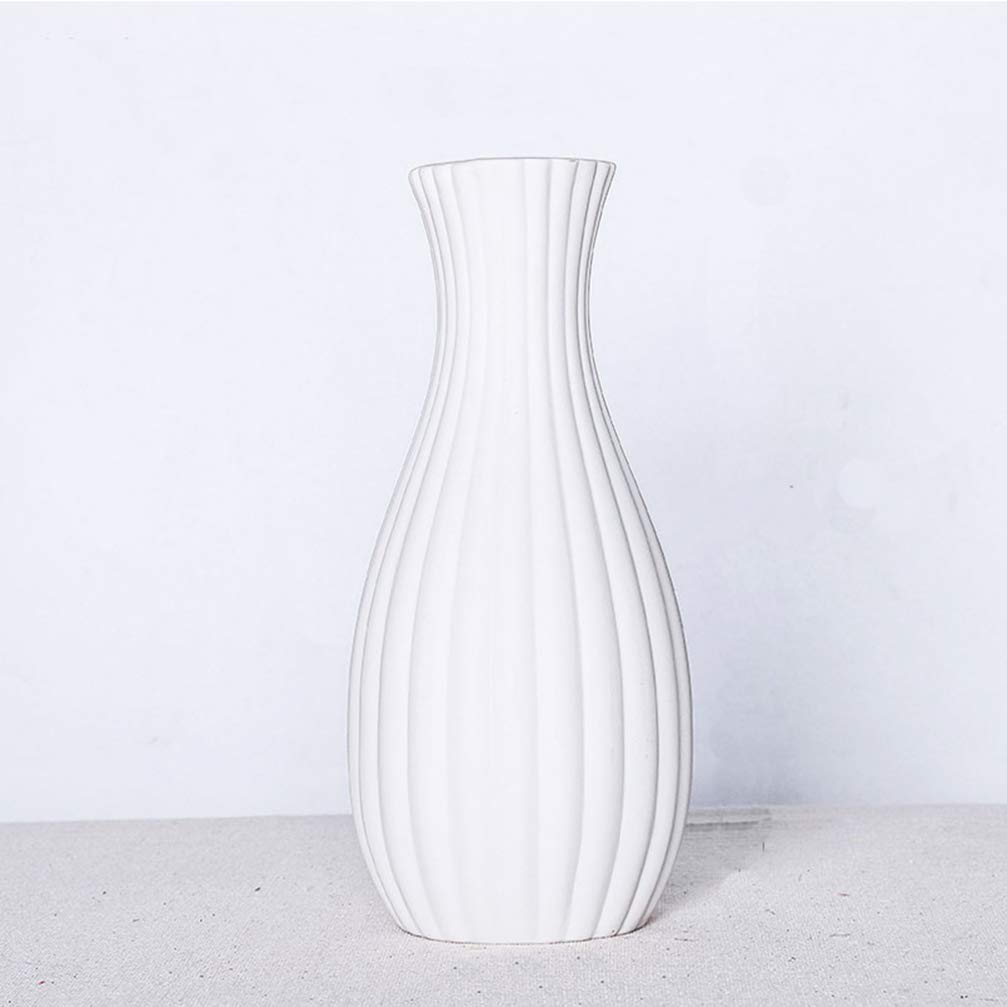 SUPVOX Moderno Vaso Bianco Elegante Vaso in Ceramica per la Decorazione Domestica