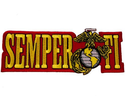 (United States US Marine Corps Semper Fi Iron or Sew on Embroidered Shoulder Patch)