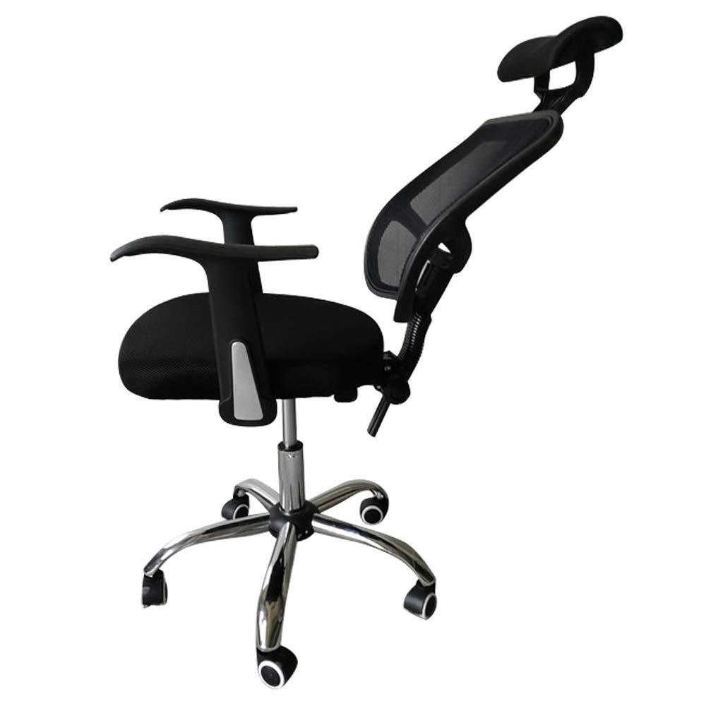 MAOVII Mesh Back Gas Lift Back Tilt Adjustable Office Swivel Chair with Headrest & Armrests Black