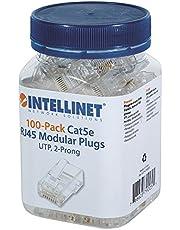 intellinet 100-pack Cat5e RJ45-modulkontakt (STP, 2-punkts -Aderkontakt) 100 st. Cat5e UTP 2 st. Ader littratt