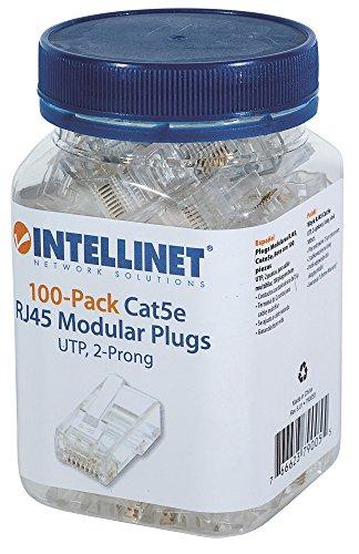 Intellinet 100 Pack Cat5E RJ45 Modular Plugs Standard (790055) ()