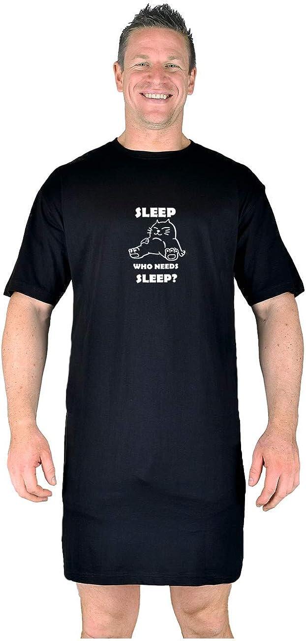 Big Tee Shirt Big Mens Who Needs Sleep Nightshirt Many Colours L XL 2XL 3XL 4XL 5XL 6XL 7XL 8XL