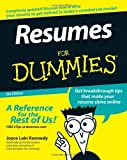 img - for Resumes For Dummies by Joyce Lain Kennedy (2007-01-10) book / textbook / text book