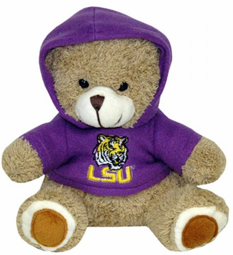 - Game Day Outfitters NCAA LSU Tigers Plush Bear with Logo Hoodie, Team Color