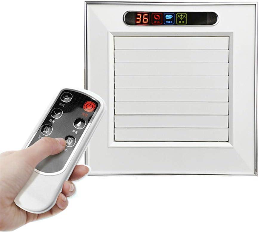 OMGPFR Ventilador de Techo Extractor Ventiladores de Escape Control Remoto de Viento frío de la Cocina Ventilador de enfriamiento Colgante Refrigerador de Aire Ionizador Purificador de Aire,Plata