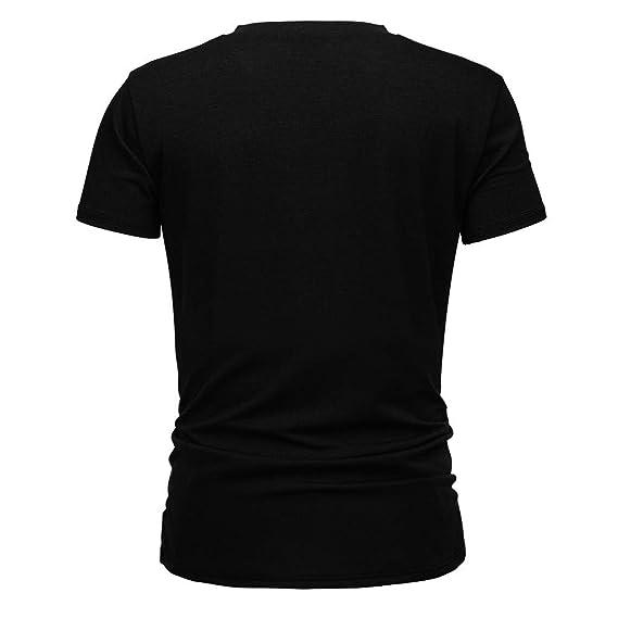 Amazon.com: Camisetas para hombre de manga corta con cuello ...