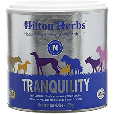 Hilton Herbs Canine Tranquility Supplement for Anxiety/Nerves/Stress in Dogs, 4.4 oz Tub
