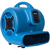 XPOWER P-830 1 HP 3600 CFM 3 Speeds Professional Air Mover Carpet Dryer Floor Fan - Blue