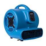 XPOWER P-830 1 HP 3600 CFM 3 Speeds Professional Air Mover Careprt Dryer Floor Fan - Blue