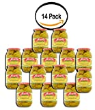 PACK OF 14 - Mezzetta Imported Golden Greek Peperoncini, 32.0 FL OZ