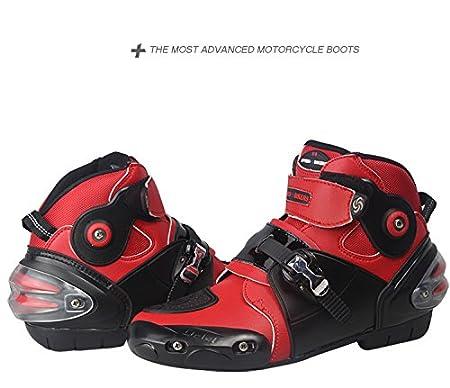 Bottes de Motocross Yiwa Bottes de Moto Chaussures de Moto Souples et imperm/éables antid/érapantes