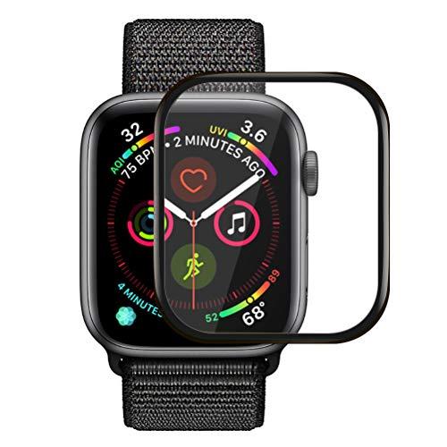 Icheckey Apple Watch Series 4 44mm ガラスフィルム アップルウォッチ 保護フィルム 強化ガラス 気泡レス 高透過率 液晶保護フィルム (44mm)