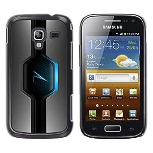 LECELL -- Funda protectora / Cubierta / Piel For Samsung Galaxy Ace 2 I8160 Ace II X S7560M -- Blue Glow --