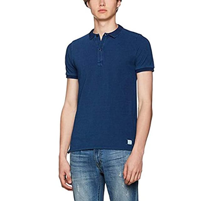 Scalpers Polo, Denim Dark Blue, S para Hombre: Amazon.es: Ropa y ...