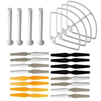 AVAWO for Syma X8C X8W X8G Parts Venture RC Quadcopter Blade Propeller & Propeller Protectors Blades Frame & Landing Skid (White)