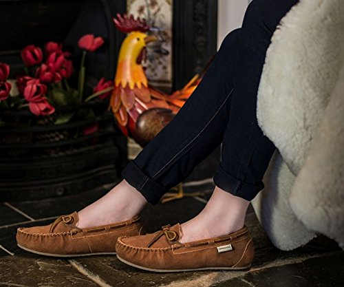 Sheepland , Chaussons pour femme Marron Whisky
