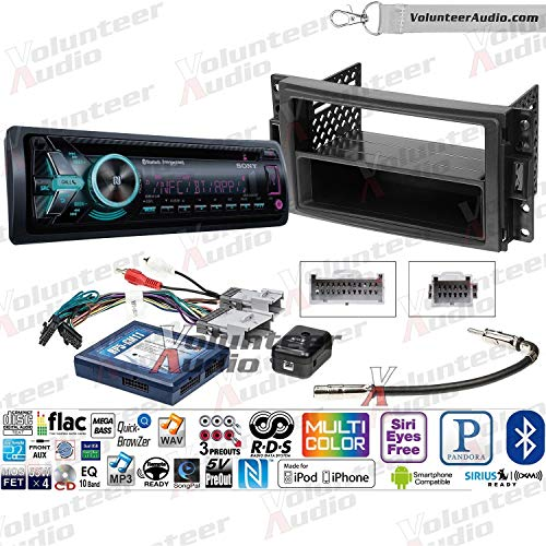 Sony GS MEX-GS620BT Single Din Radio Install Kit With CD Player, USB/AUX Fits 2005-2013 Chevrolet Corvette, 2006-2009 Hummer H3 (Bose and SWC) ()