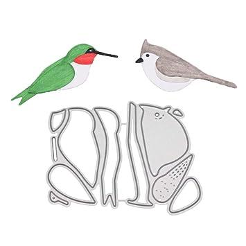 Feida Troqueles de corte, diseño de pájaros de metal, para manualidades, álbum de recortes, tarjetas, plantillas en relieve, color plateado: Amazon.es: ...