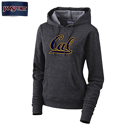 Jansport UC Berkeley Cal Women's Hoodie Sweatshirt- Charcoal (Sweatshirt Berkeley Cal)