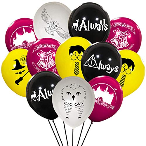 Harrys Cute Potter Party Balloons Supplies Magical Wizard School Party Decorations For Kids Birthday Party, 40pcs -