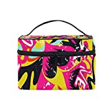 Abstract Graffiti Hip Hop Street Art Heart Love Portable Cosmetic Toiletry Bags Large Makeup Travel Bags with Handle 9''